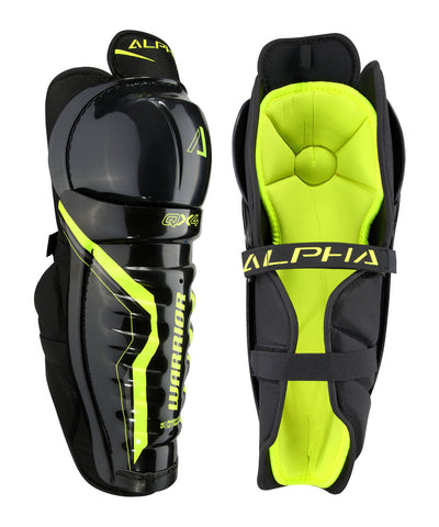 WARRIOR ALPHA QX4 SR HOCKEY SHIN GUARDS