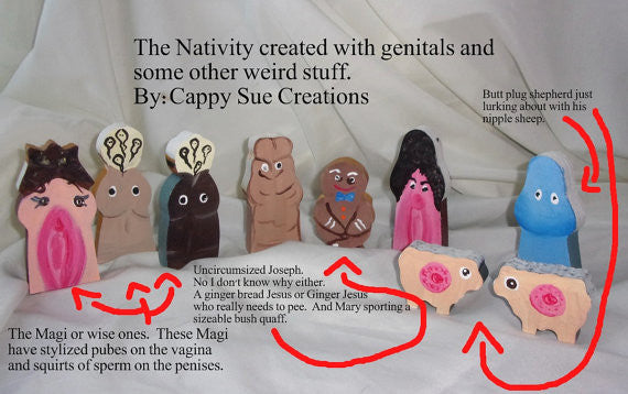Mature Genital penis and vagina nativity for the truly a little pervy and weird people