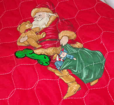 Mature Tree Skirt Santa delivering a bag of dicks horrible holiday decoration penis clause