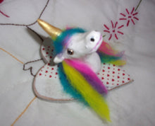 Unicorn taxidermy valentine hanging original fine art one of a kind work