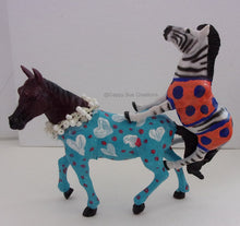 Miniature Zebra with hand painted outfit the Zebra of spite