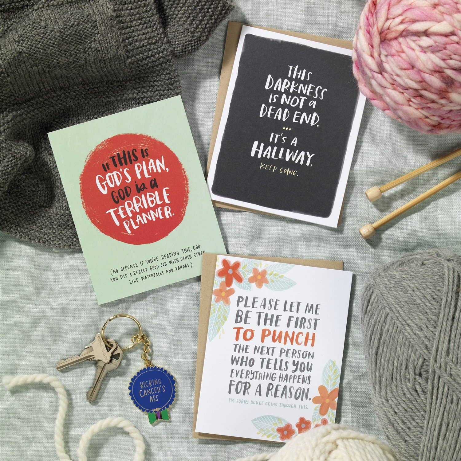 Emily McDowell & Friends - Everything Happens for a Reason Empathy Card