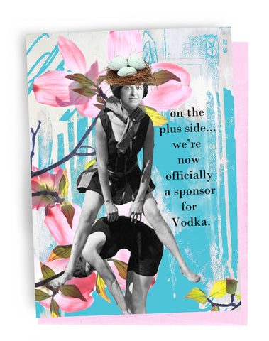 Erin Smith Art - 350 Sponsor for Vodka Greeting Card