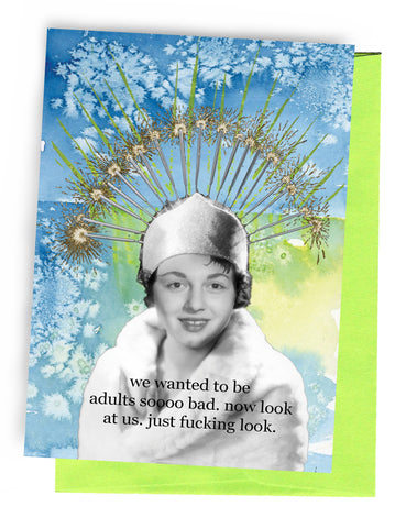 Erin Smith Art - 353 Adults so Bad Greeting Card