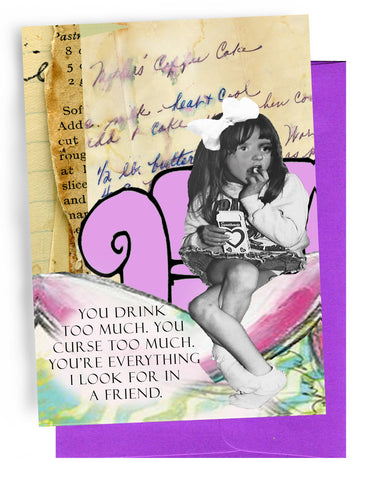 Erin Smith Art - 361 Drink Too Much Greeting Card