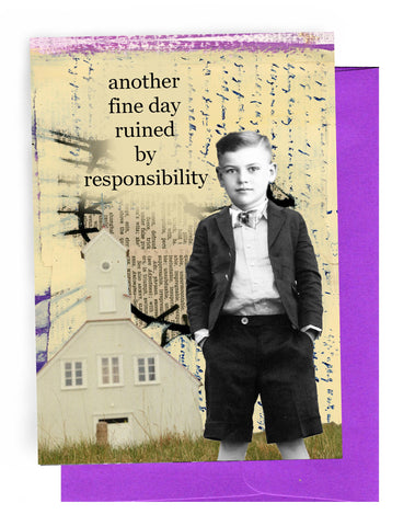 Erin Smith Art - 364 Responsibility Greeting Card