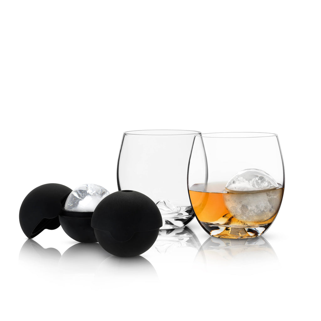 Viski - Glacier Rocks® Ice Ball Mold and Tumbler Set by Viski