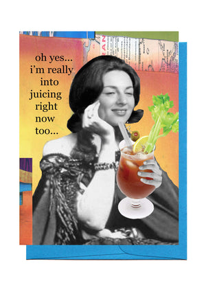 Erin Smith Art - 322 Juicing Greeting Card