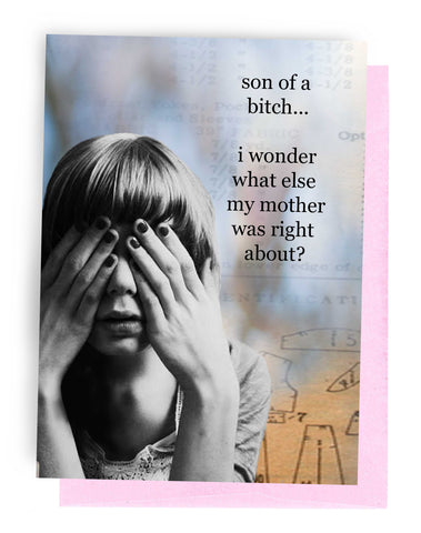 Erin Smith Art - 338 Mother Was Right Greeting Card
