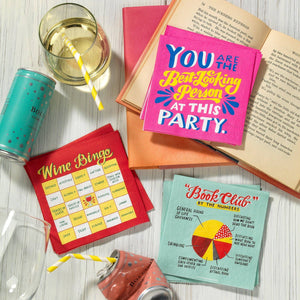 Emily McDowell & Friends - Book Club Cocktail Napkins, Pack of 20