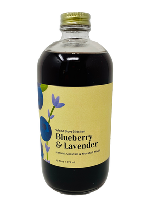 Wood Stove Kitchen - Blueberry and Lavender Cocktail & Drink Mix, 16 fl oz