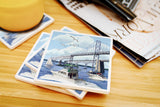 Lantern Press - Maryland - Chesapeake Bay Bridge Ceramic Coasters