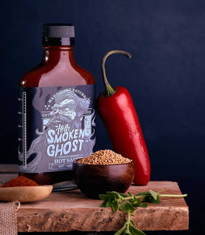 Hoff & Pepper - Smoken Ghost - Hoff's Chipotle Style Hot Sauce - 6.7oz Flask