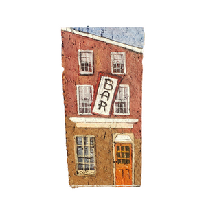 Linda Amtmann Hand Painted Brick-Bar Baltimore