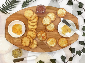 Double Dish Olive Dipping Board