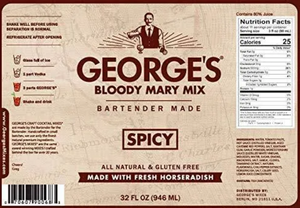George's Spicy Bloody Mary Mix