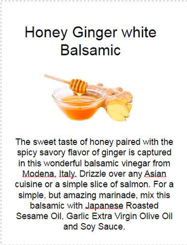 Honey Ginger White Balsamic