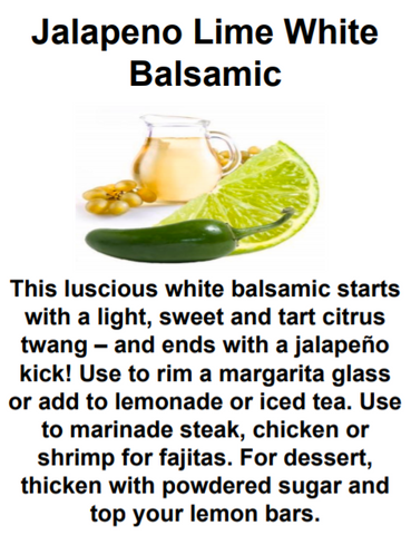 Jalapeno Lime White Balsamic