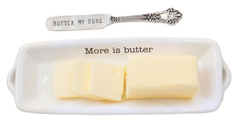 Mud Pie Butter Dish and Spreader