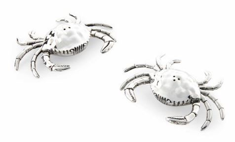 Mud Pie Crab Salt and Pepper Shakers