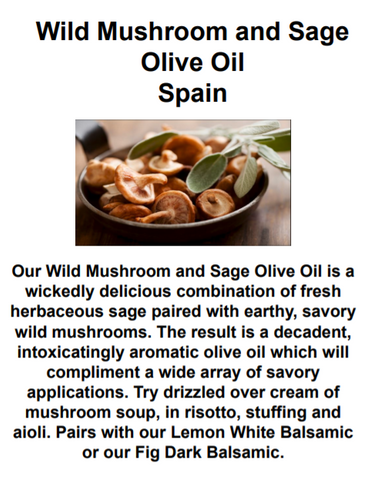 Mushroom and Sage Olive Oil
