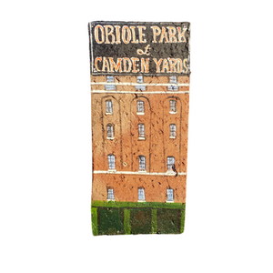 Linda Amtmann Hand Painted Brick-Oriole Park At Camden Yards