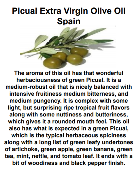 Picual Extra Virgin Olive Oil (Spain)