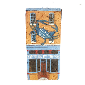 Linda Amtmann Hand Painted Brick-Riptide By The Bay