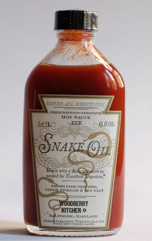 Woodberry Kitchen's Snake Oil Hot Sauce