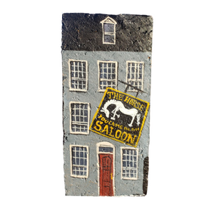 Linda Amtmann Hand Painted Brick-The Horse You Came In On Saloon
