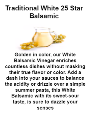 Traditional White 25 Star Balsamic