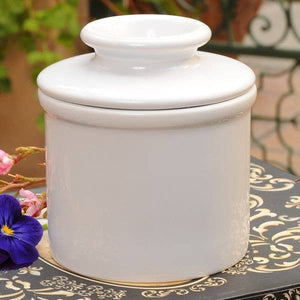 The Original Butter Bell crock - Retro Classic White Butter Bell Crock - White