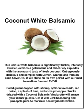 Coconut White Balsamic
