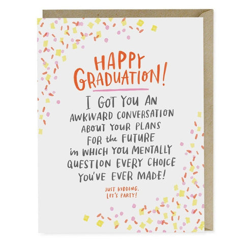 Emily McDowell & Friends - Awkward Conversation Graduation Card