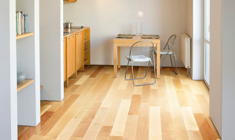 Maple Natural Hand Scrapped - 5'' x  9/16'' Engineered Hardwood by Urban Floors