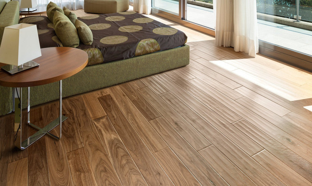 Walnut Natural Hand Scrapped - 5'' x  9/16'' Engineered Hardwood by Urban Floors