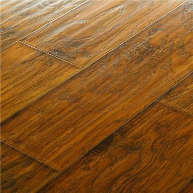 Ikarus Hickory - 12.3mm MEGAClic Laminate Flooring by AJ Trading