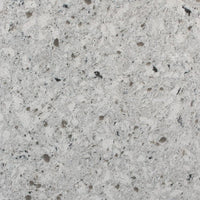 New Chrome Prefabricated White Quartz Countertop by BCS Vienna