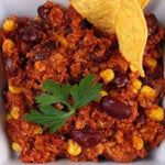 Chili sin carne et son riz - Chili sin carne with rice