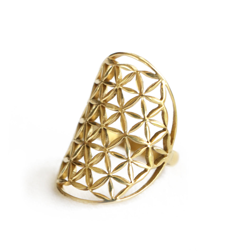 FLOWER OF LIFE - brass