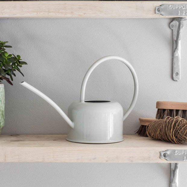 White Watering Can - From Victoria Shop