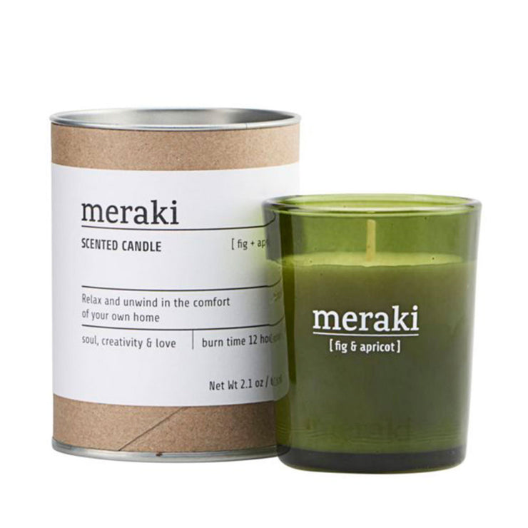 Meraki Fig & Apricot Scented Candle 12hr Burn