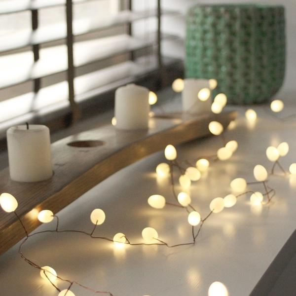 Teardrops Opaque Battery wire string lights