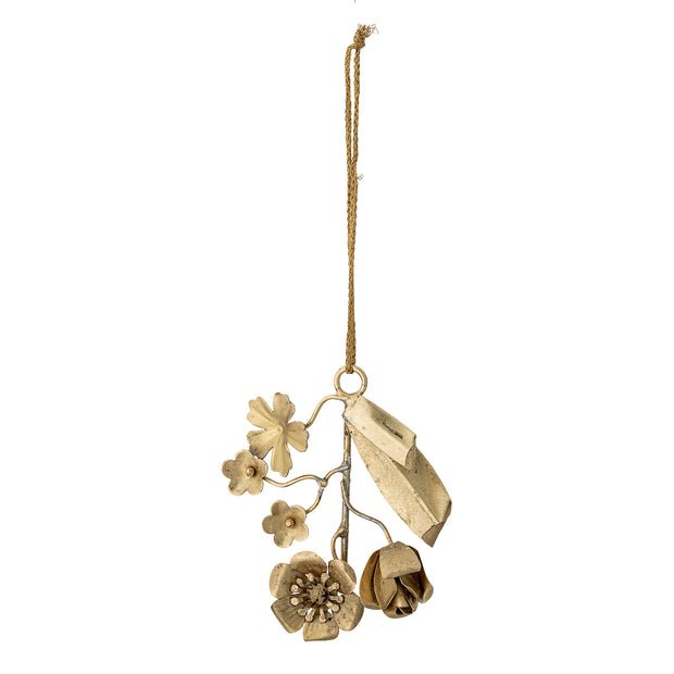 Gold Metal Flower Decoration