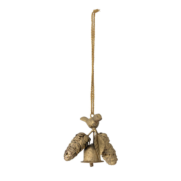 Brass Bird and Bell Decoration