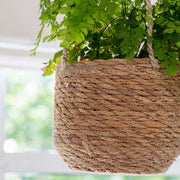 Tapered Jute Hanging Plant Pot