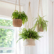 Tapered Jute Hanging Plant Pot - From Victoria Shop