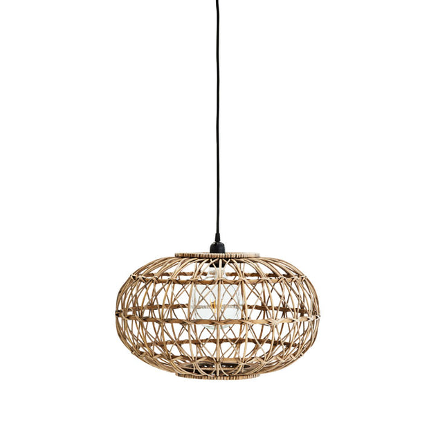 madam stoltz rattan oval ceiling light