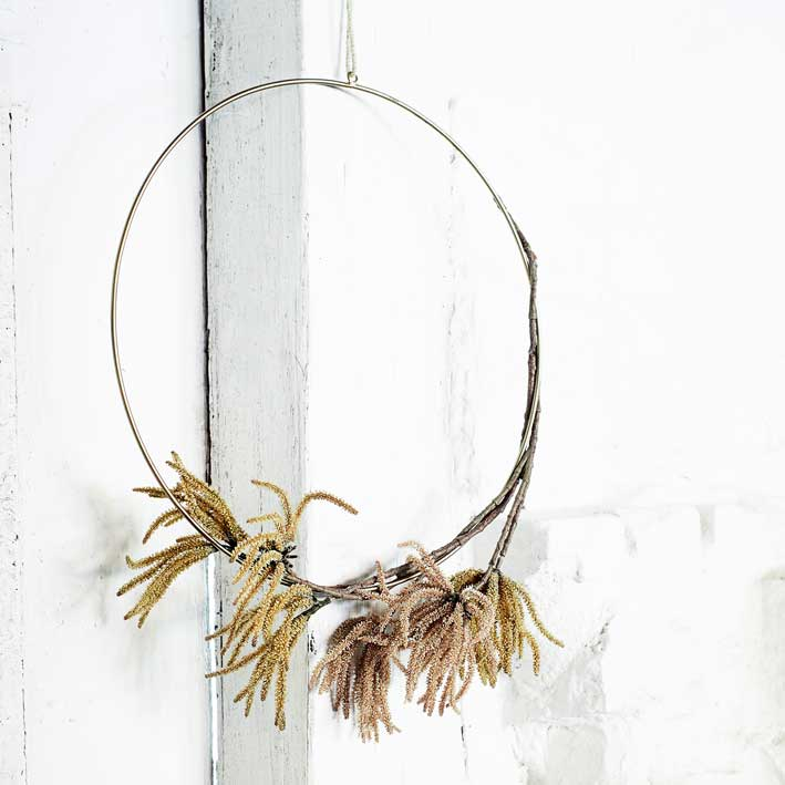 Hanging Brass Decoration Hoop - Large