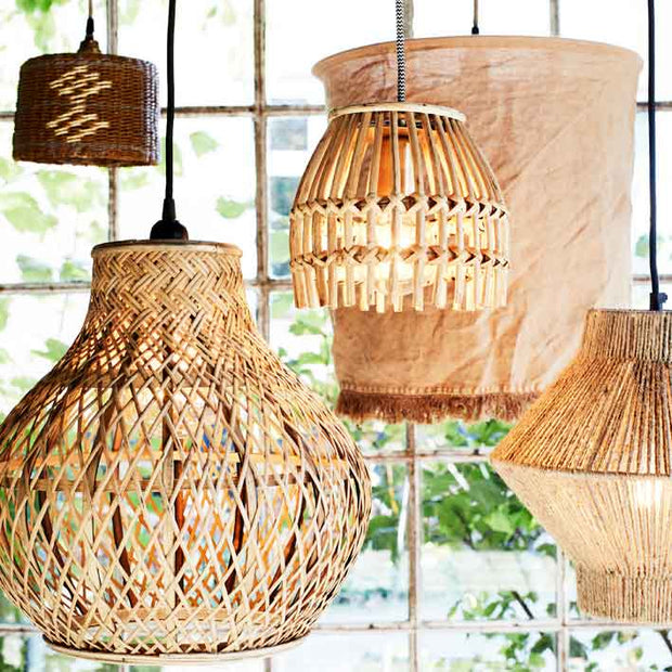 Bamboo Ceiling Lamp with Cable fitting